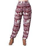 maroon elephant pants