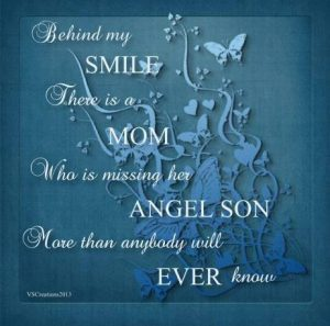 mom smiling missing son