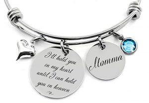 my heart is in heaven bracelet